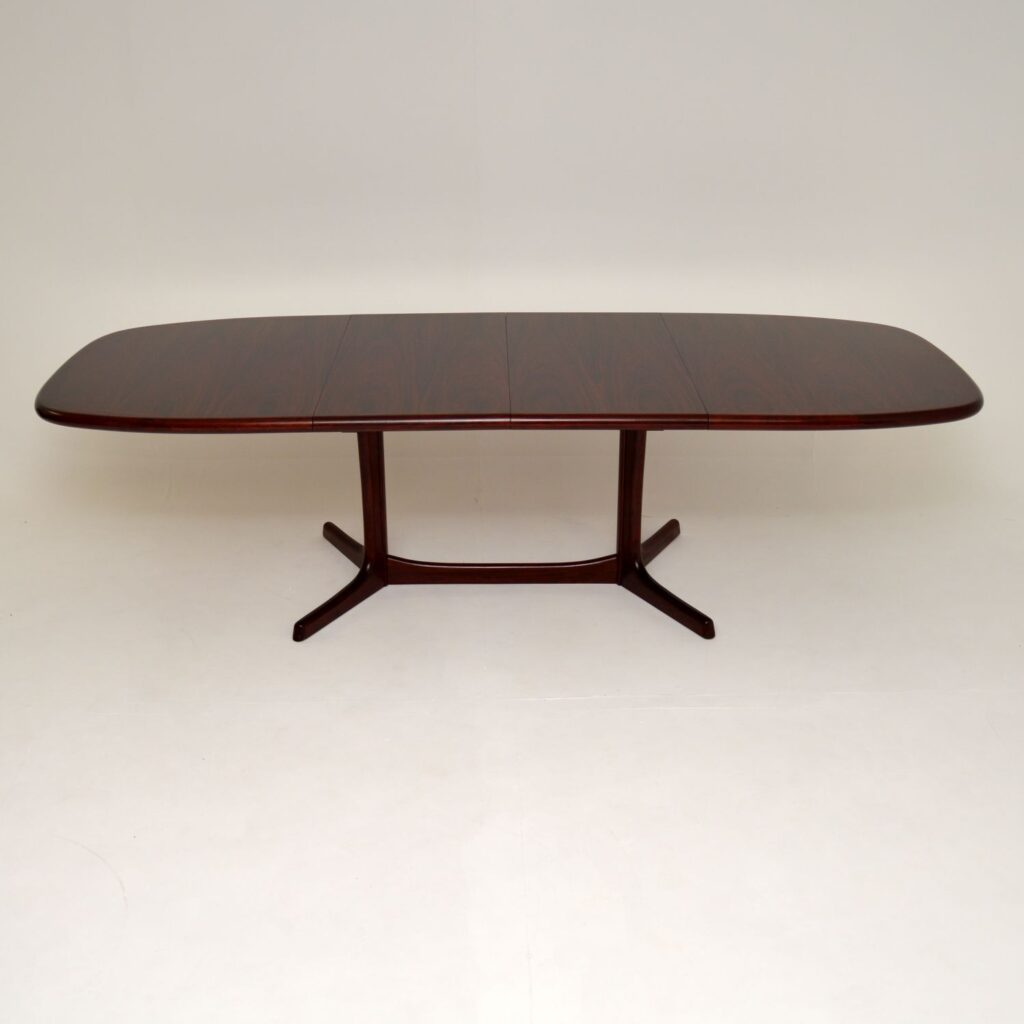 danish rosewood vintage retro extending dining table by dyrlund