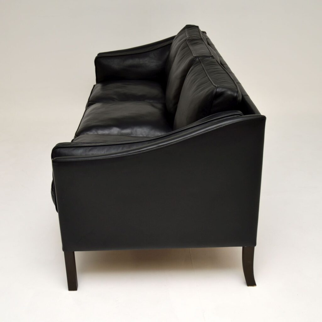 danish retro vintage leather sofa by stouby