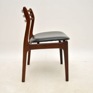 pair of danish rosewood vintage retro dining side chairs farso