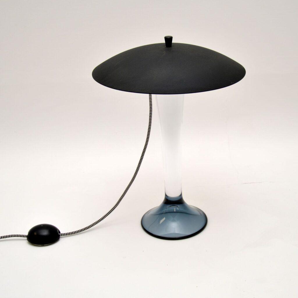 retro vintage swedish glass table lamp kosta boda