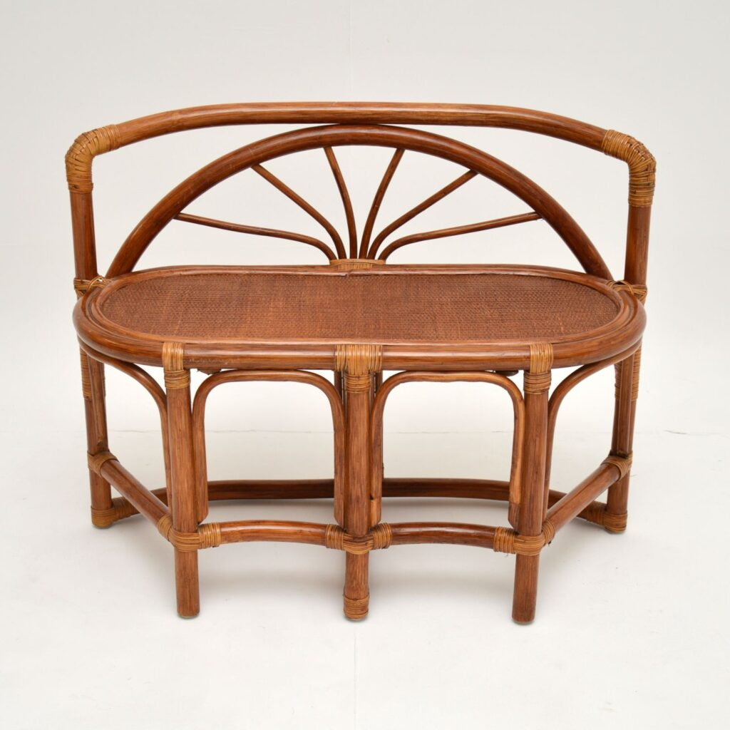 retro vintage bamboo games table chairs