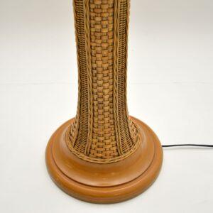 Vintage 1970's Woven Rattan Floor Lamp