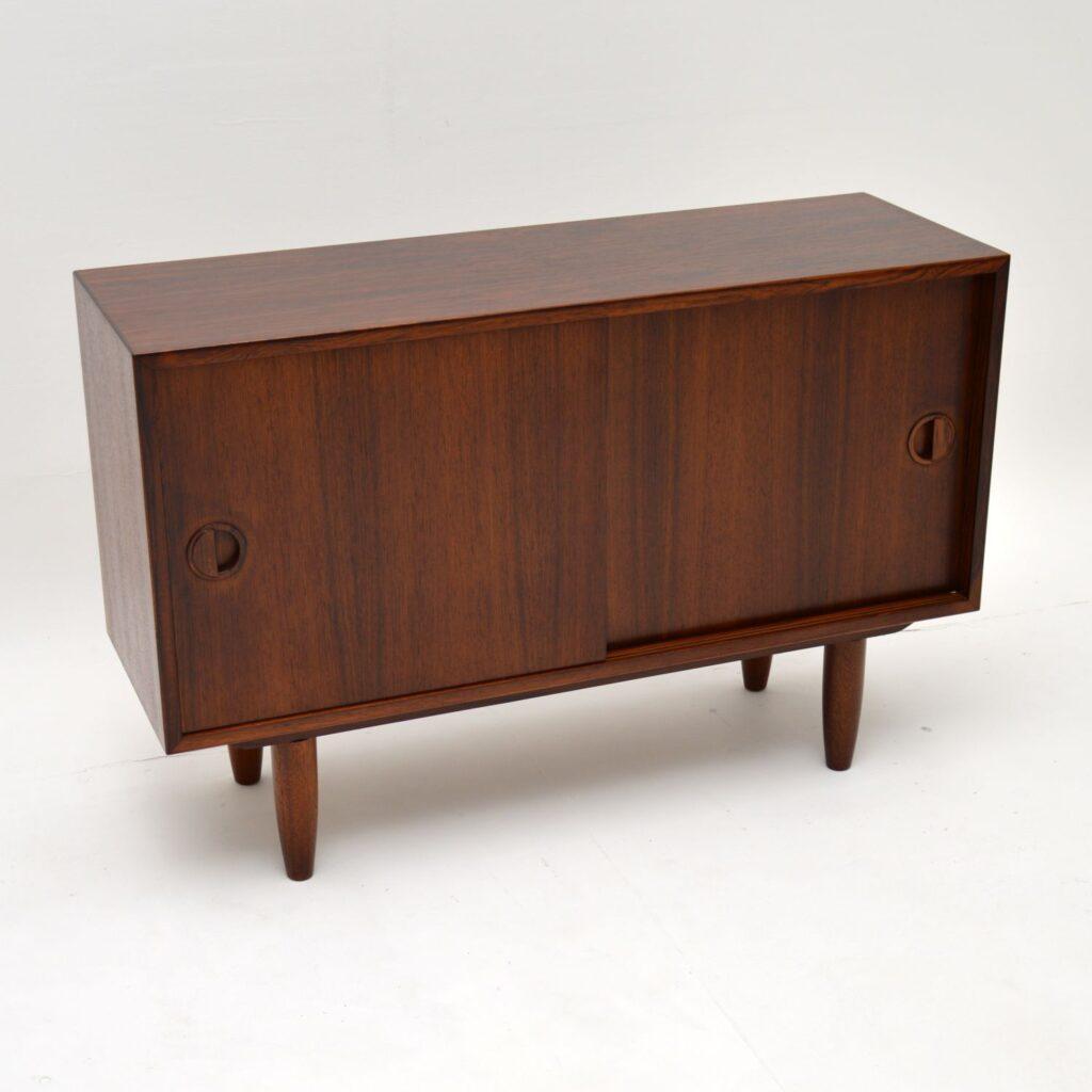 danish retro vintage rosewood cabinet sideboard