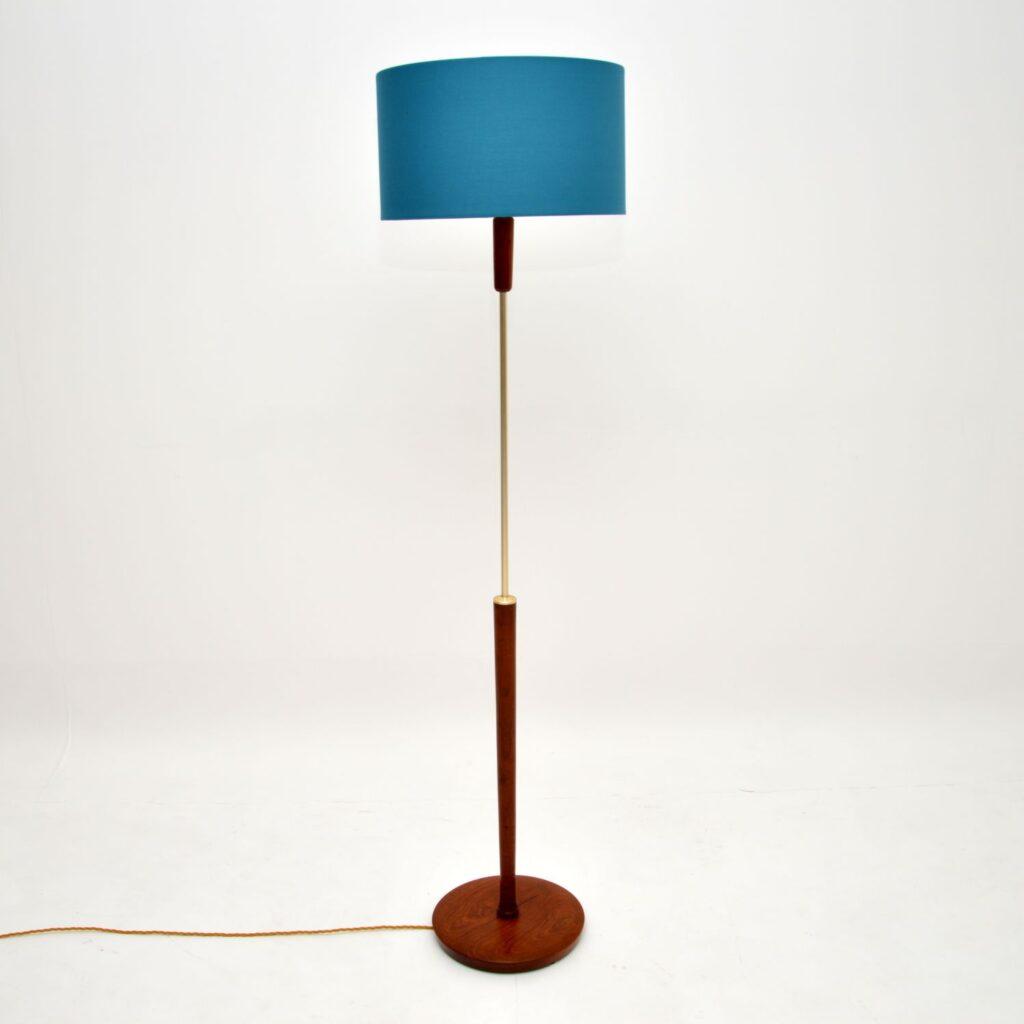 danish teak retro vintage floor lamp
