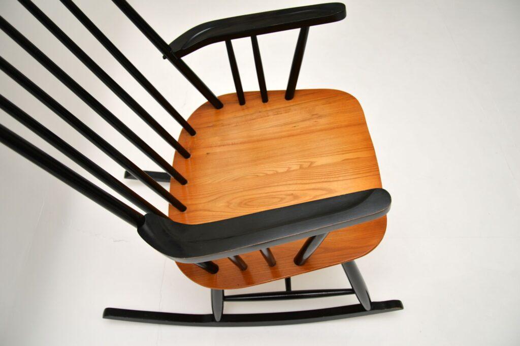 vintage retro ercol yugoslavian rocking chair armchair