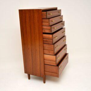 1960's Vintage G Plan Walnut Tallboy Chest of Drawers