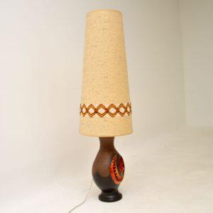 retro vintage german ceramic lava table floor lamp herda