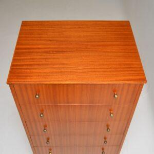 retro vintage mahogany talboy chest of drawers