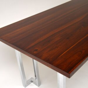 pieff rosewood chrome vintage retro dining table desk