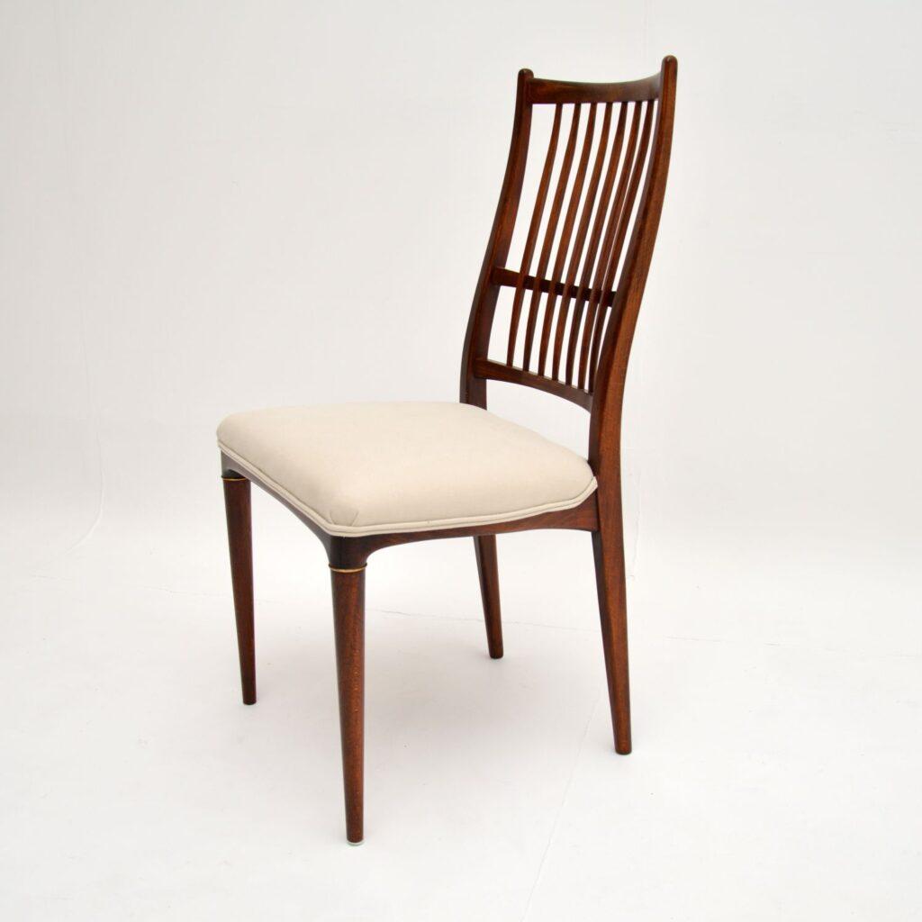 retro vintage rosewood swedish seffle svante skogh dining table chairs