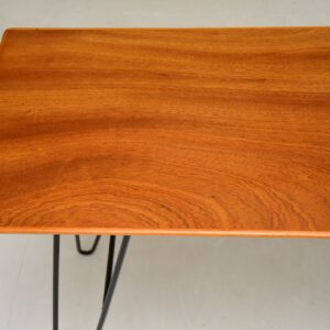 retro vintage mahogany hairpin console side table