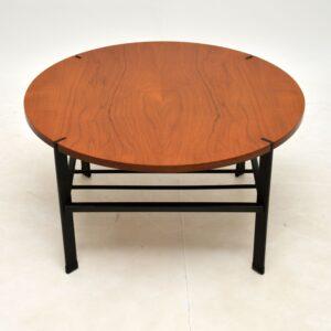 retro vintage teak steel coffee table