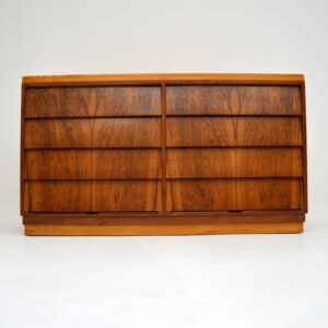 retro vintage walnut sideboard chest of drawers