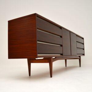 retro vintage rosewood walnut sideboard