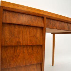 1950's Vintage Walnut & Satin Birch Desk