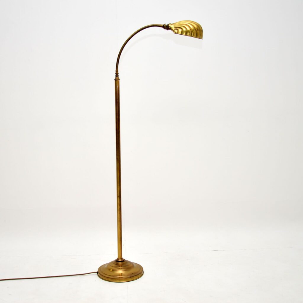 brass rise and fall vintage retro antique floor lamp christopher wray