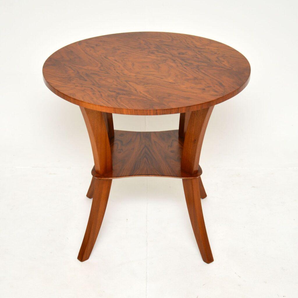 art deco walnut occasional coffee side table
