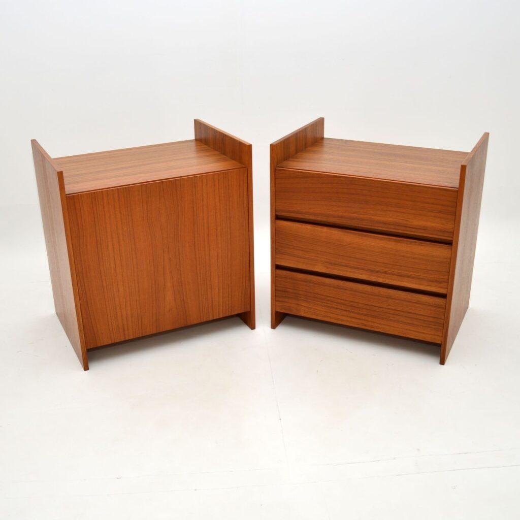 danish teak retro vintage sideboard pair bedside cabinets media cabinet cado cadovius