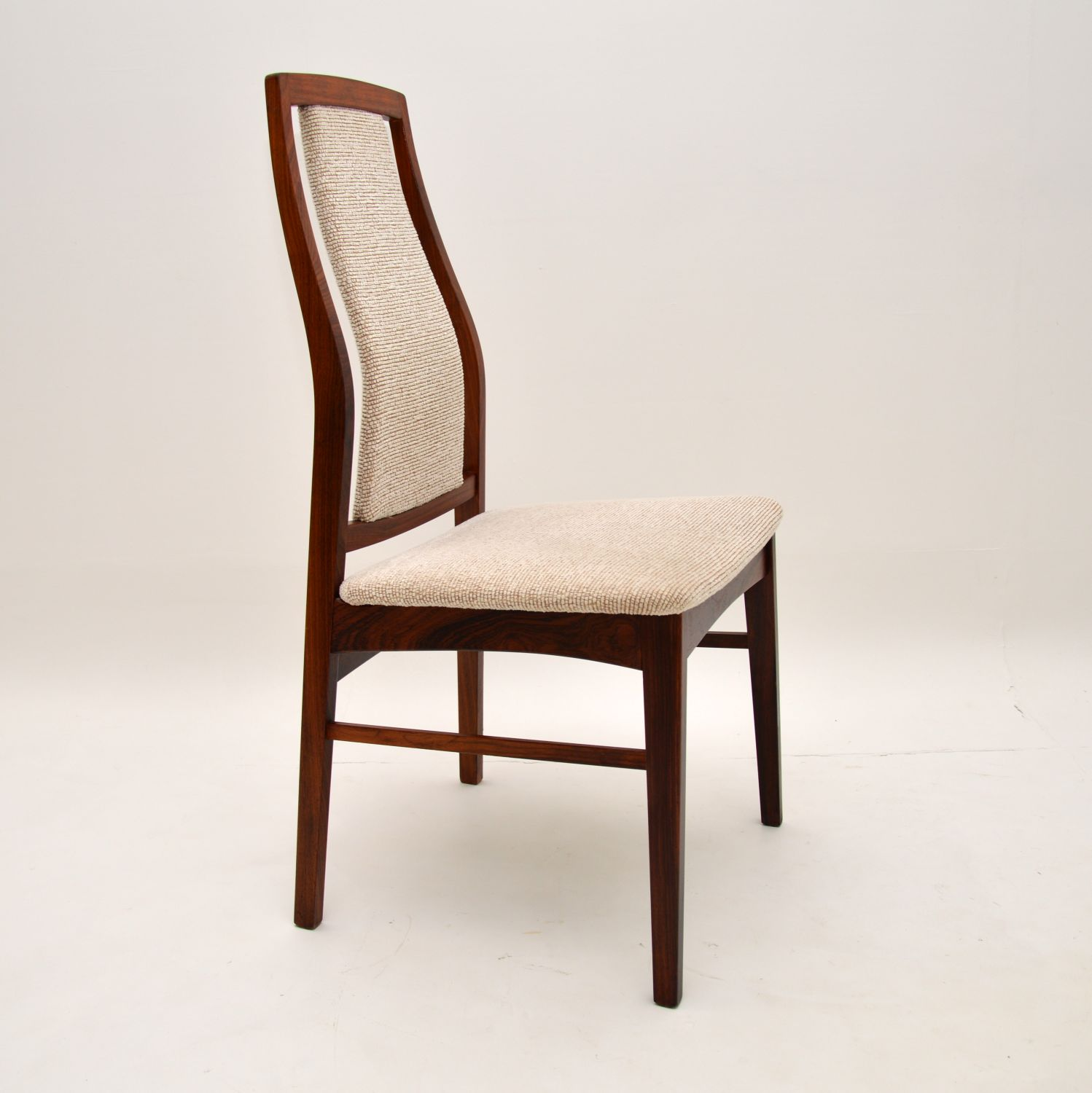 set of 8 eight danish retro vintage rosewood dining chairs