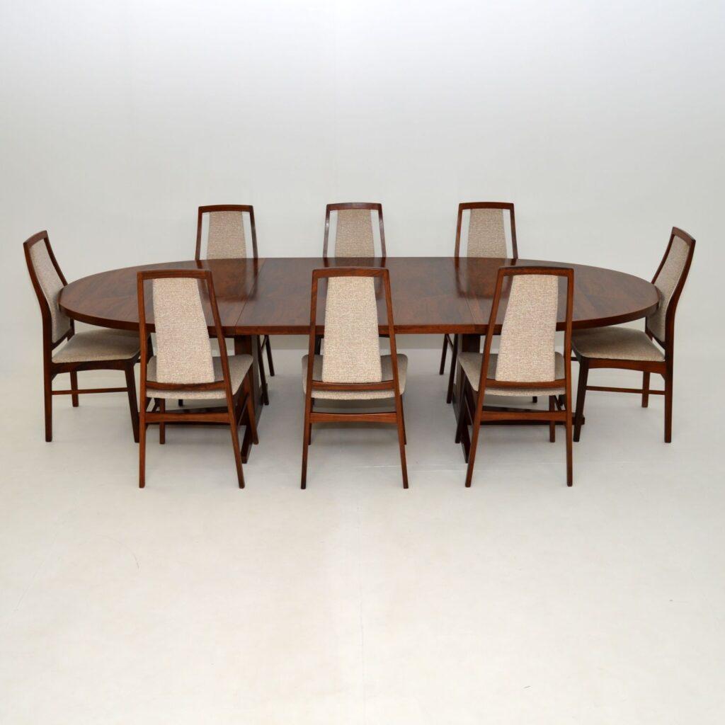 daish retro vintage rosewood dining table by john mortensen