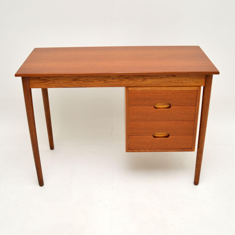 danish retro vintage teak desk by arne hovmand olsen