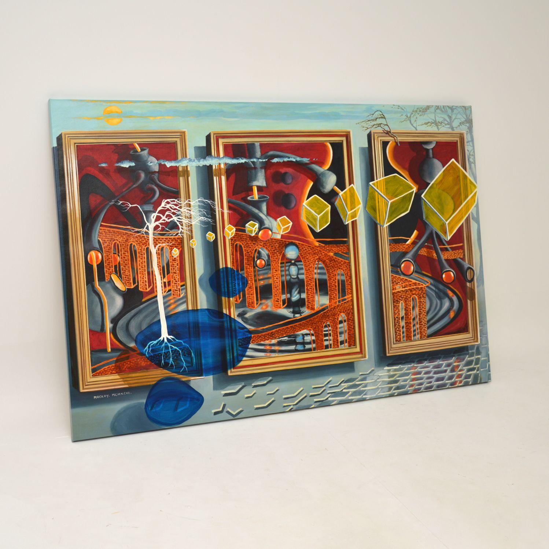 retro vintage abstract oil painting john mackay