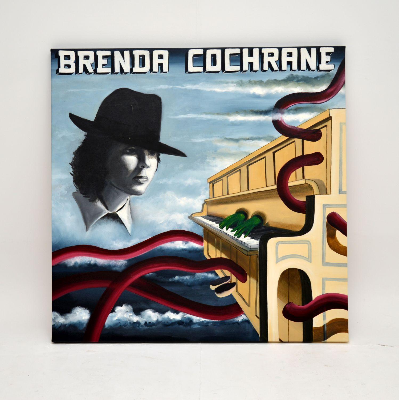 john mackay oil painting bintage retro brenda cochrane