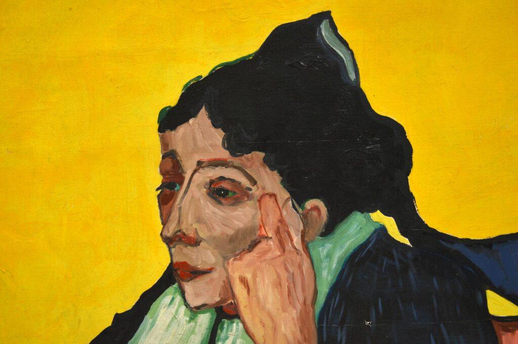 retro vintage oil painting portrait john mackay lucian freud