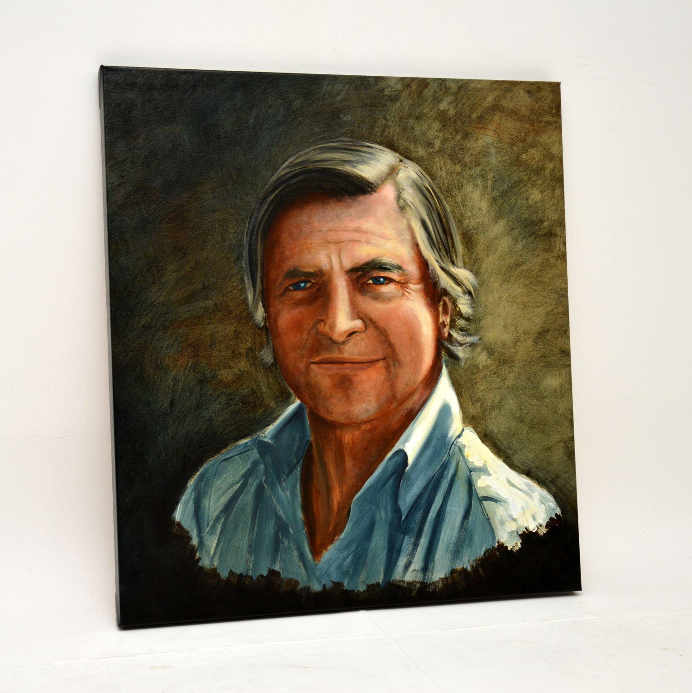 retro vintage oil painting on canvass self portrait john mackay