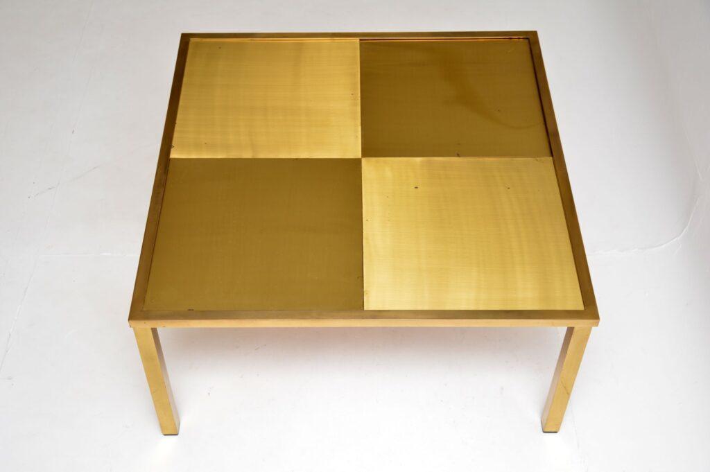 retro vintage brass coffee table