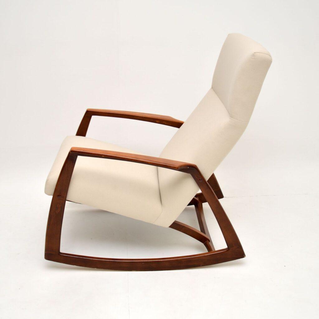 danish retro vintage rocking chair kofod larsen arne vodder