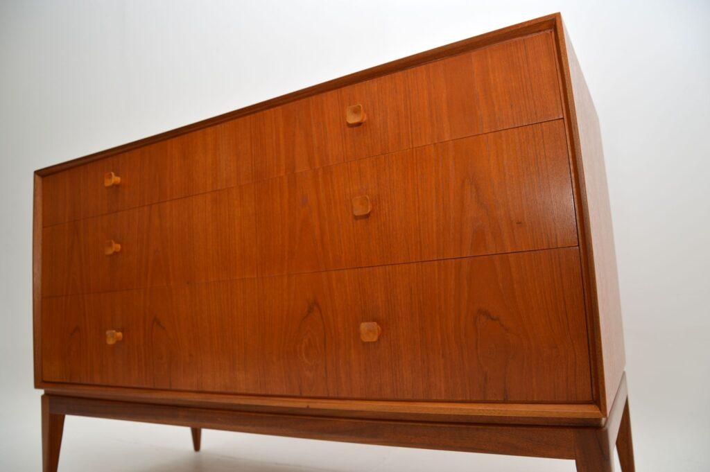 retro vintage danish teak chest of drawers sideboard dresser