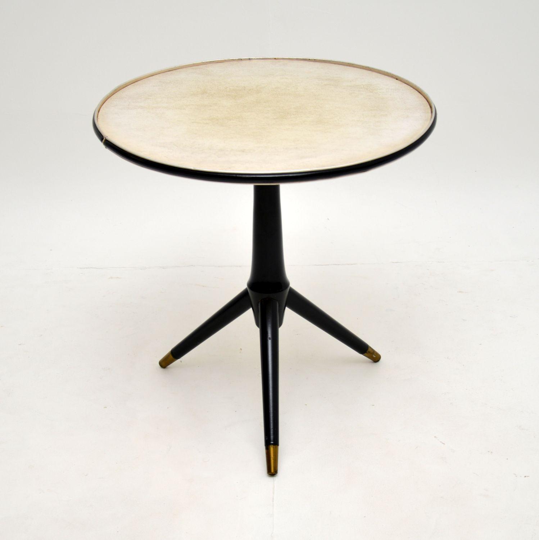retro vintage italian tripod table