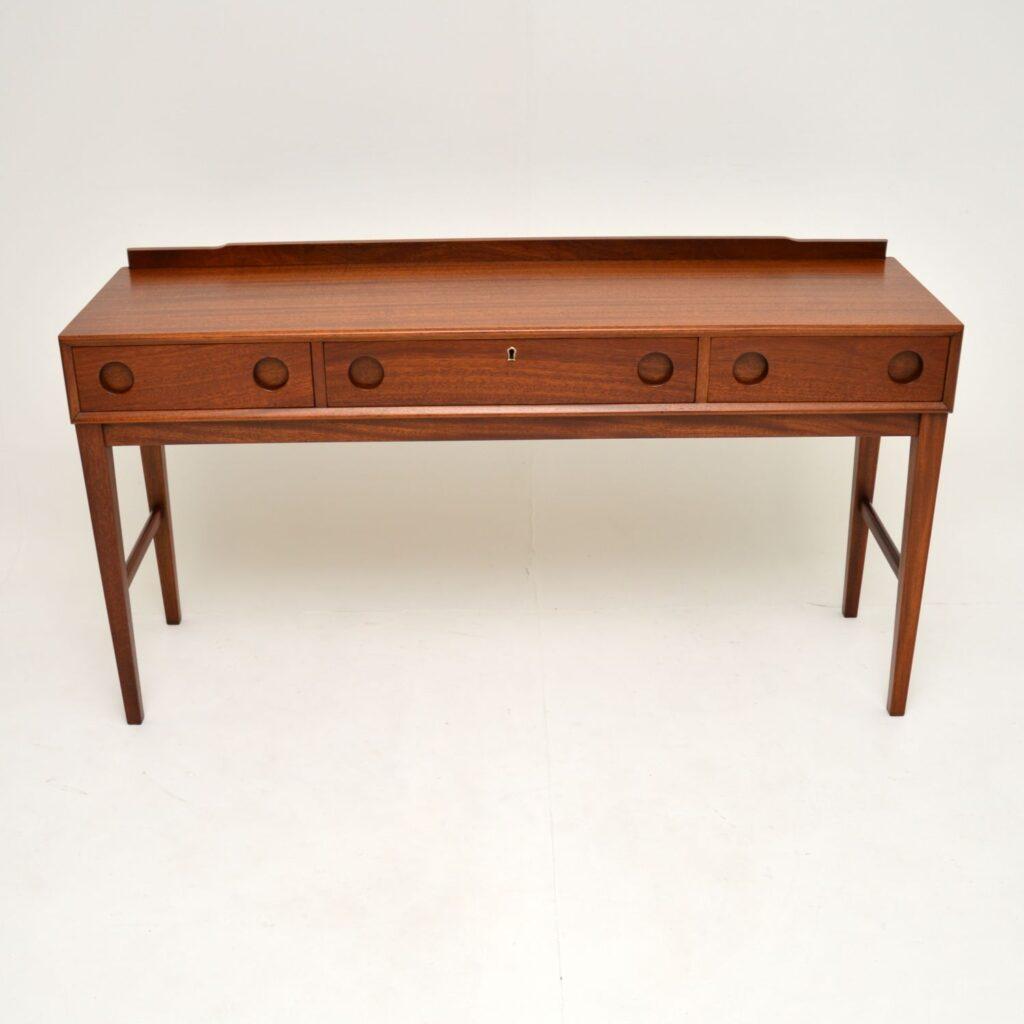 retro vintage mahogany desk side table dressing table