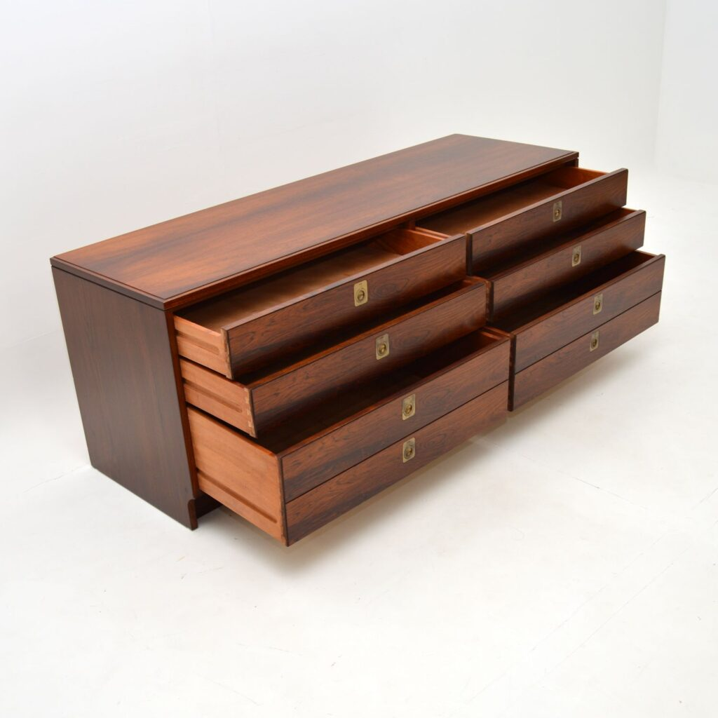 vintage retro rosewood sideboard chest of drawers archie shine robert heritage