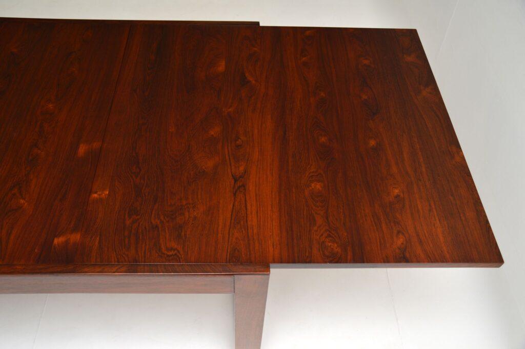 retro vintage uniflex rosewood dining table