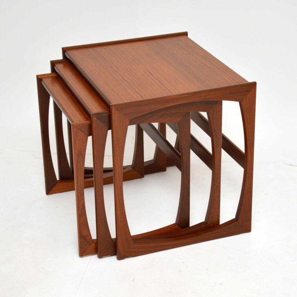 danish retro vintage teak nest of tables