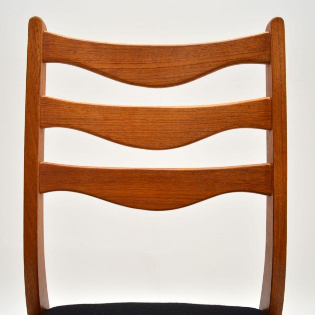 set of 8 danish retro vintage teak dining chairs arne wahl iversen