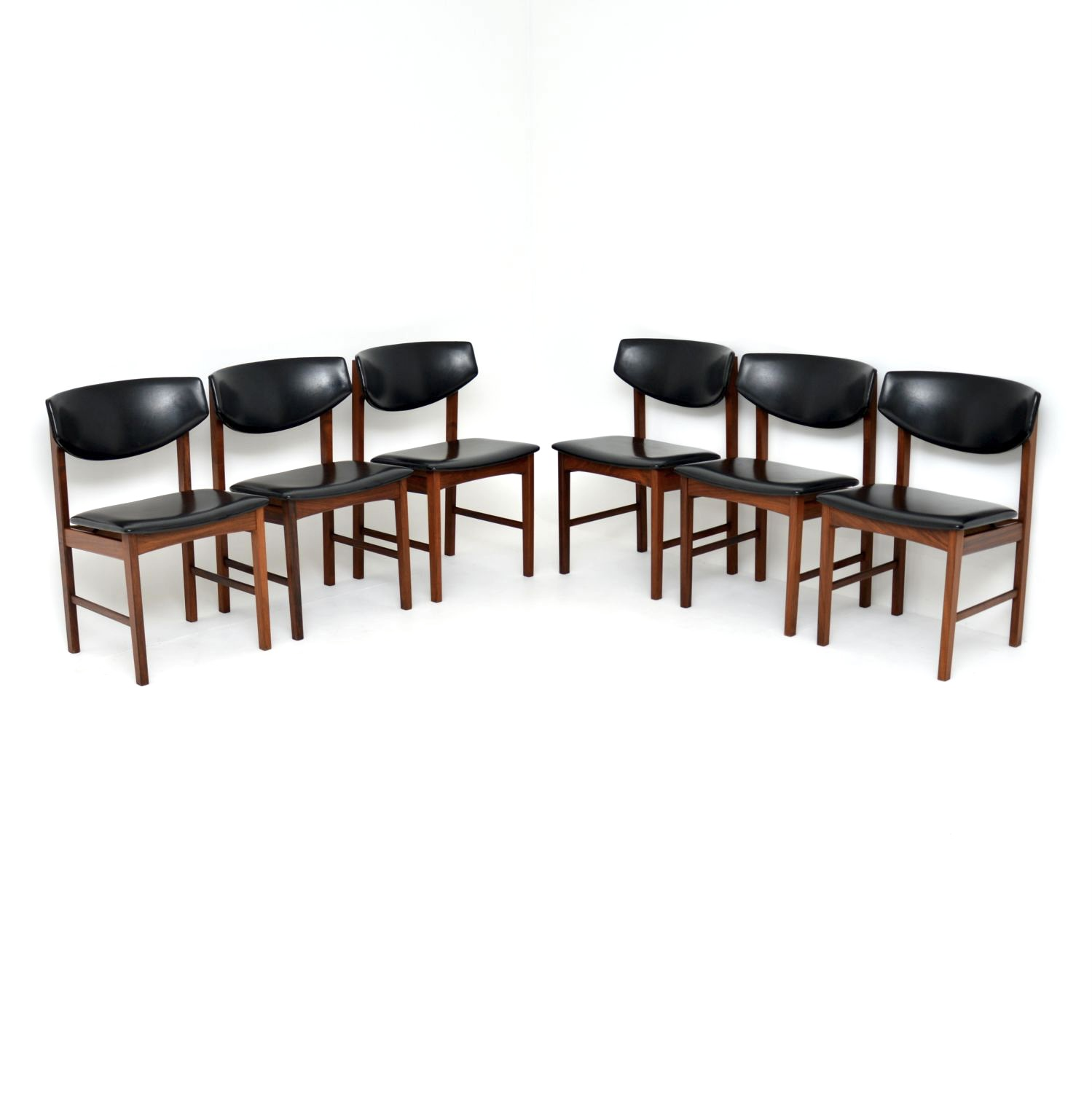 danish retro rosewood vintage dining chairs
