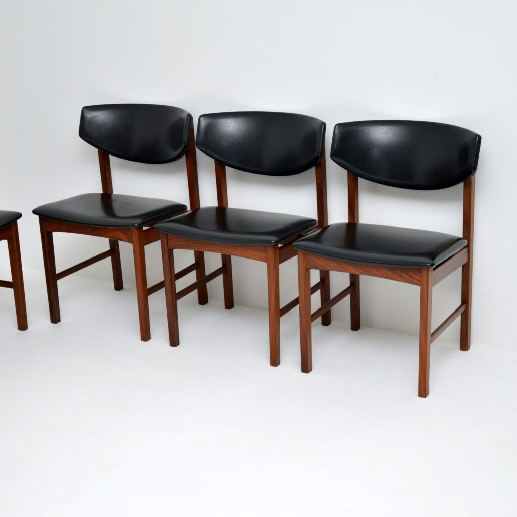 set of 6 danish retro vintage rosewood dining chairs
