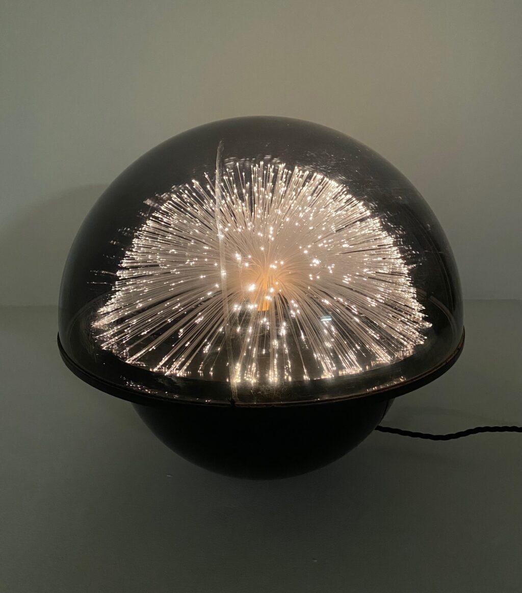 retro vintage crestworth galaxy fibre optic table lamp