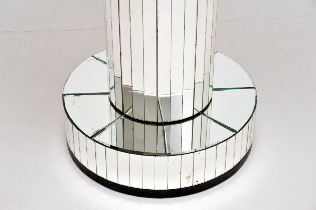 art deco mirrored glass cocktail coffee occasional table