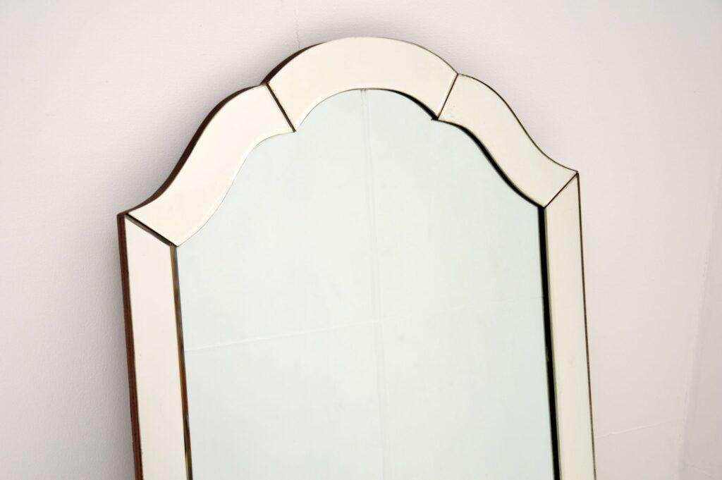art deco vintage antique etched mirror