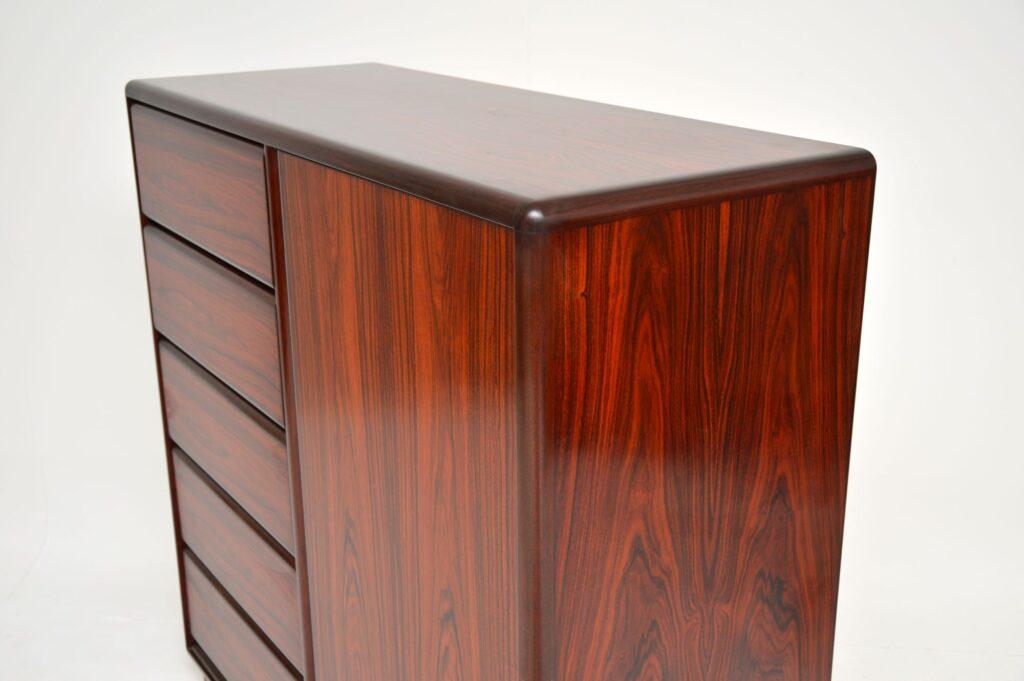 danish retro vintage rosewood wardrobe chest brouer