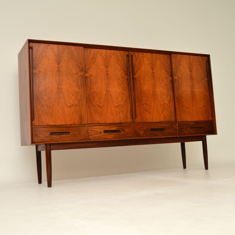 danish retro vintage rosewood sideboard kurt ostervig