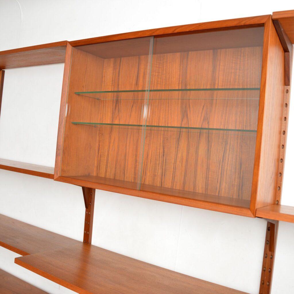 danish vintage retro teak royal shelving system cado poul cadovius bookcase