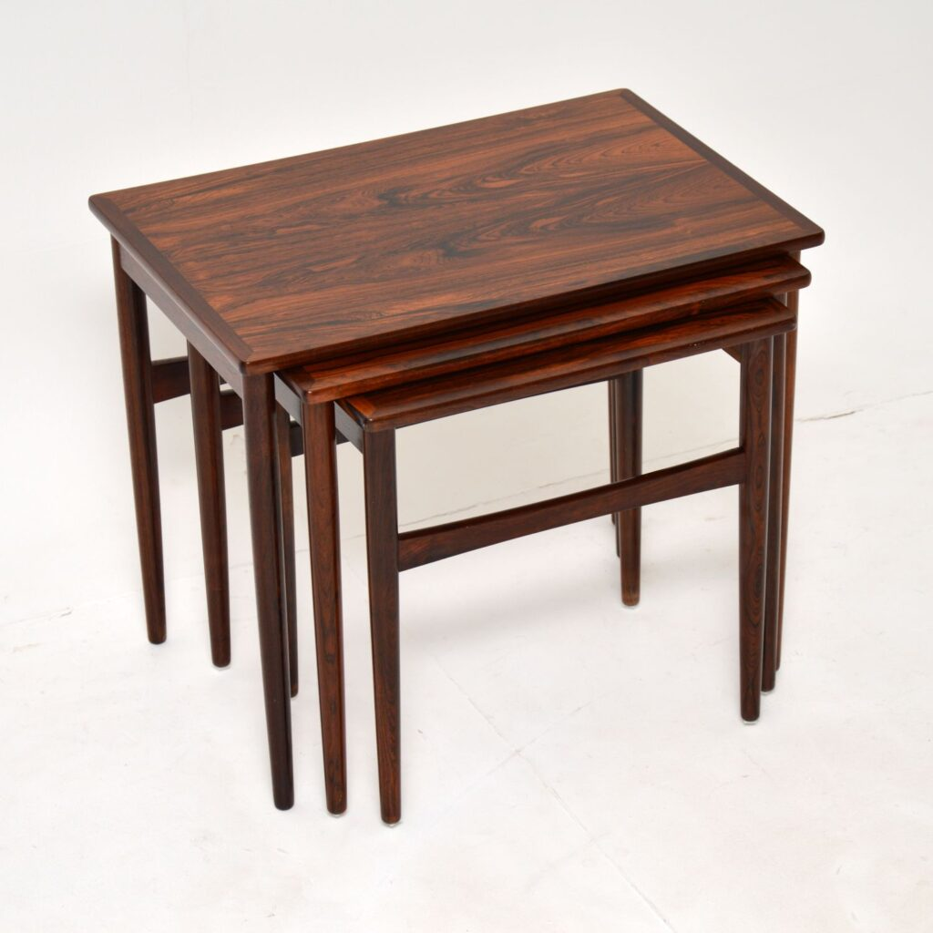 danish retro rosewood vintage nest of tables br gelsted
