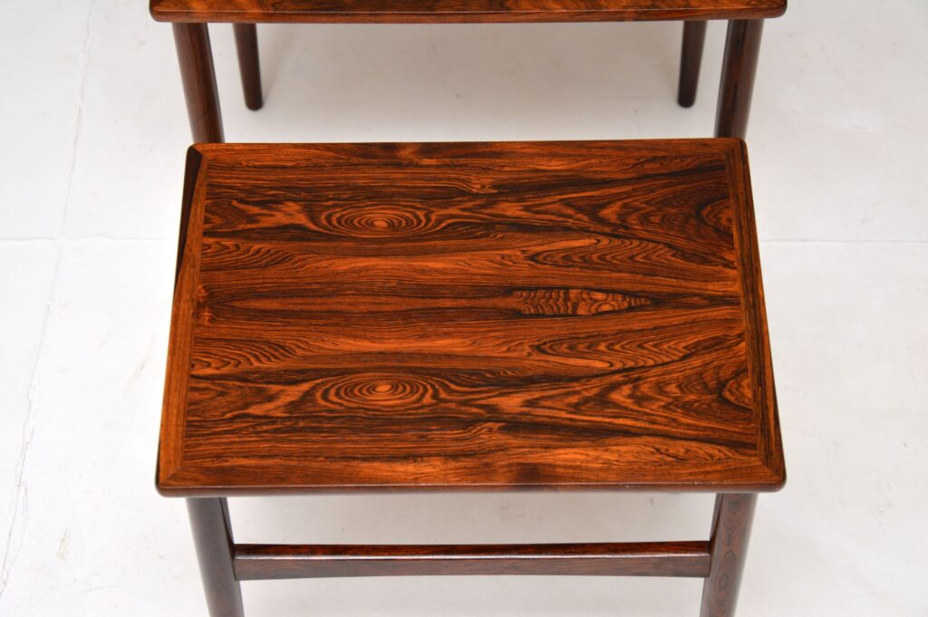 danish retro vintage rosewood nest of tables br gelsted