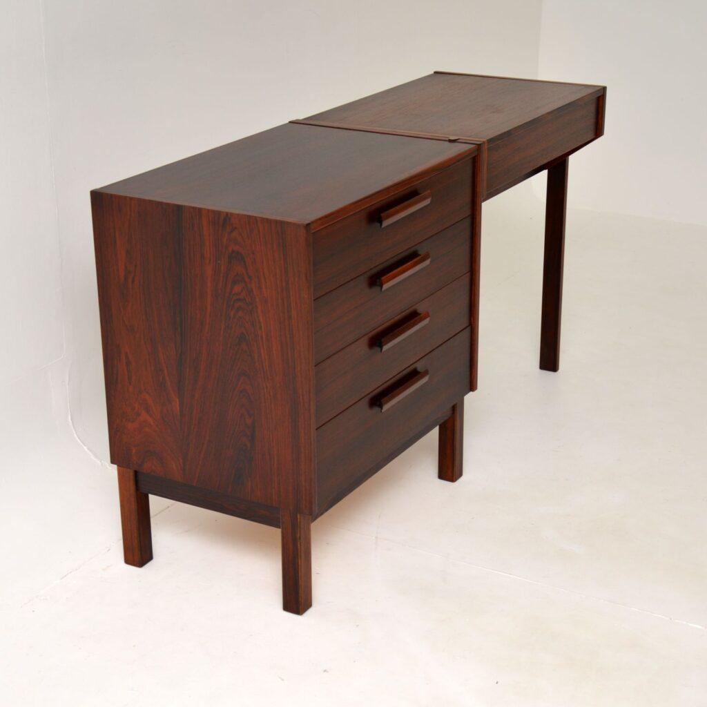 retro vintage swedish rosewood dressing table nils jonsson troeds