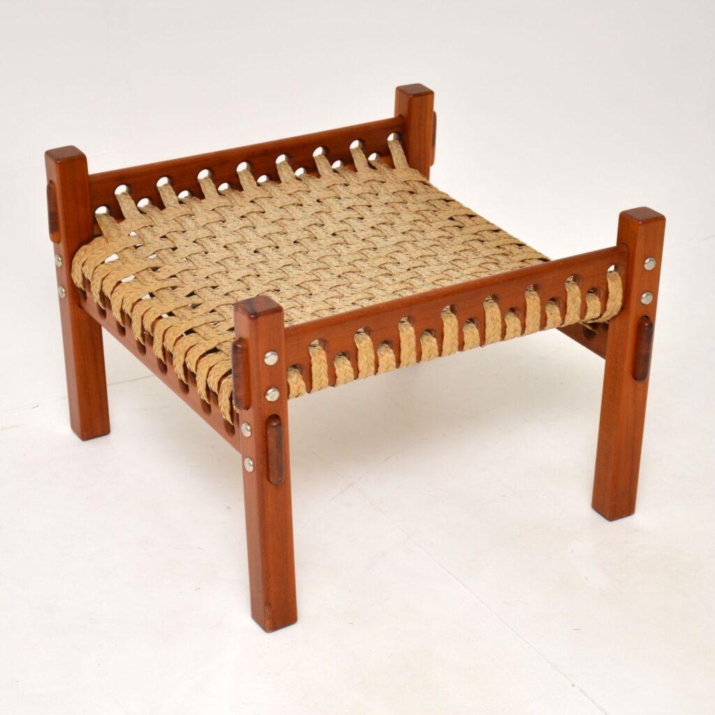 retro vintage brazilian woven stool